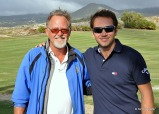 Mark Pursey with Nick Dougherty at Abama Golf.