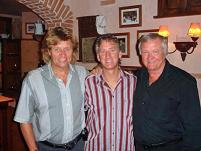 with Bev Bevan of ELO, and Big Ron Atkinson.