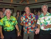 The SHIRTS...Brian Davey, Bill Mesenburg And Len Sowerby...Summer Party 2012