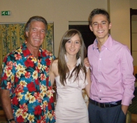 Bill again...this time with my daughter Katarina and my son Marco. What a shirt, Bill !!