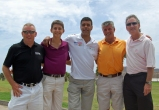 "Our golf team with Chris Kamara...""Kammy""."