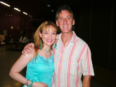 With beautiful Irish singer Mary Duff