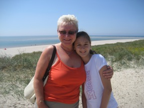 Janet with Katarina somewhere on the west coast of Denmark...