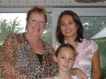 "Barbara Healey with ""my girls"" at the Summer Party, Shifnal."